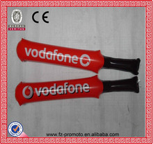 Inflatable Cheering Stick In Cricket Bat Shape With Team Logos