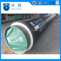 seamless steel pre-insulated pipe with fu foam thermal insulation coating and hdpe pipe coating