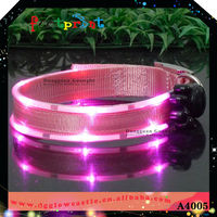 2016 new arrival led pink light up dog collar