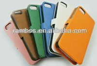 "Leather skin flip for iphone 5"" case accessories"