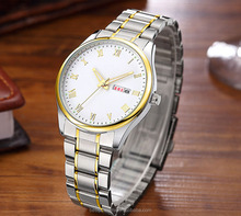 Hot Sale Customized Curren Brand Fashion Stainless Steel Quartz Business wrist watch men