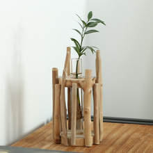 Factory direct selling creative wood crafts, multi-meat flowerpot wood crafts, home furnishings