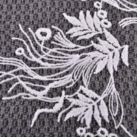 100% polyester African Indian voile lace water soluble / chemical lace embroidery fabric for ladies dresses / bridal wedding