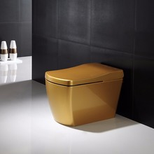 chines gold color automatic sensor toilet flush without tank