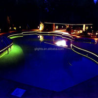 Hot sales swimming pool fiber optic lighting in 2015 side glow fiber optical pool light