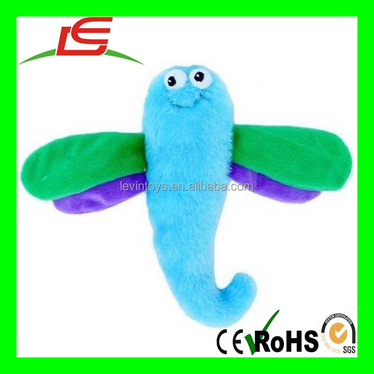 D580 sutffed Crinkles Squeaky Plush Dog Toy Small Dragonfly New