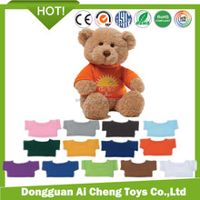 Voice recording plush bear <strong>toy</strong> with t-shirt custom logo plush soft <strong>toy</strong>