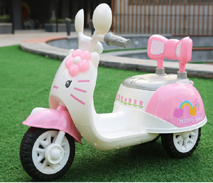 2017 Baby kitty electric ride on motorcycle kids toy car with MP3