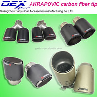 Akrapovic carbon fiber exhaust pipe universal car parts muffler tip