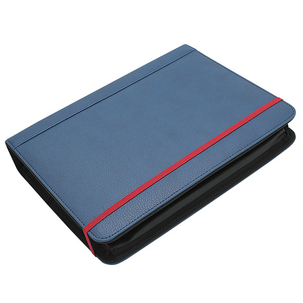 Multi-function branded conference folder A4 leather compendium folders with calculator