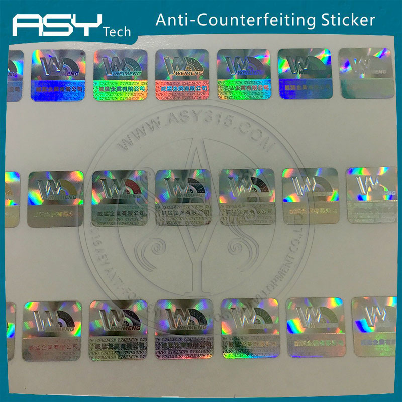 Custom private label , wine/Pharmaceuticals holographic label laser printer