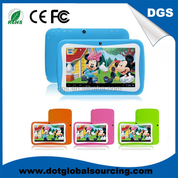 "Smart 7"" Kids Tablet PC 1024x600 Touch Screen RK3126 Quad Core Child Tablet 8GB Preschool Education Tablet PC Android"