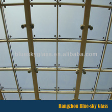 LT clear toughened laminated glass roof panels