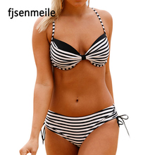 New Arrival Sexy Bikini Women Perfect Sex Girl Photo Bathing Suit Stripe Bikini Swim Wear
