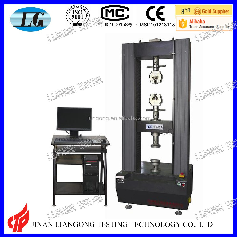 computer control auto universal tensile testing machine usage rubber tensile strength tester