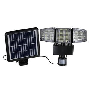 High quality 150 LED Triple Head Solar Motion sensor Activated Security Light 1000 Lumens Super Bright light
