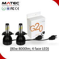 Hot selling LED Headlight Bulbs Factory Price G5 G6 G20 L5 L6 80w 6000K LED Headlight H15 H4 H7 for Car