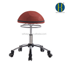 Special design ergonomic gym chair red fabric round ball chair