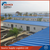 Chinese supplier low cost prefabricated house , prefab homes, Light steel structure sandwich panel house