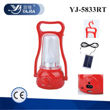 YUYAO YAJIA YJ 5833TP solar camping lantern lamp outdoor rechargeable