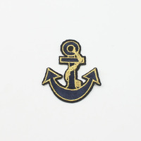 2018 Hot Sale Embroidered Patch Soft Ship Hook Patch Slim Sewing Patch