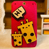 Hot Sell Red Felt Mobile Phone