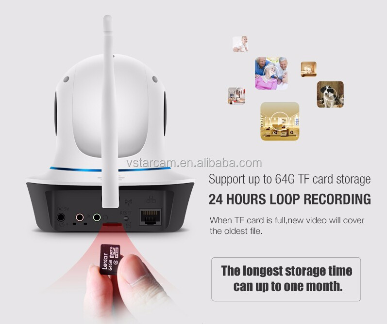VStarcam 1080P PTZ P2P IR-CUT wifi 2.0MP hidden ip camera wireless