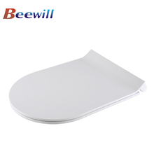 Slim D shape urea soft close wc toilet seat wall hanging toilet seat