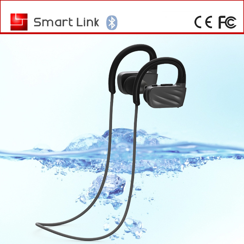 Fashion style running gym solicon earcups IPX7 MP3 wireless swim earphone