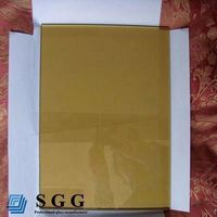 High quality golden bronze reflective float glass