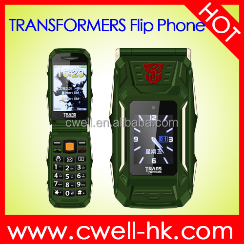 1.77/2.8 Inch Dual Screen Dual SIM Card 4800mAh Big Battery Transformer Power Bank Flip Mobile Phone