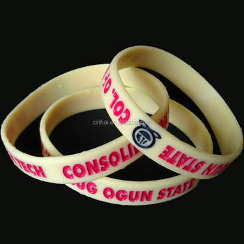 high quality silicone wrist band with customized design