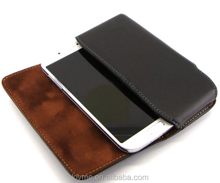 For Samsung Galaxy S5 Genuine Cowhide Leather Case Holster Belt Clip Pouch