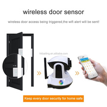2017 newest product APP remote control WIFI + GSM 2G dual network home security alarm system support door open remind