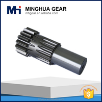 china made customized gear shaft metal machining part