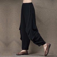 Jiqiuguer original design women casual harem pant plus size trousers maxi harem pants