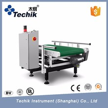 Checkweigher machine for food industry processing