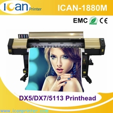 Best unique 1.88m double heads used uv flex banner printing machine price