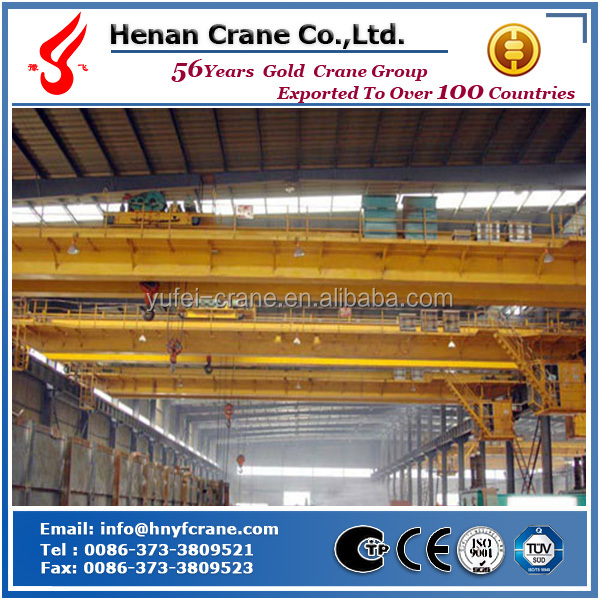 Low cost and high efficiency China gold supplier overseas service double beam bridge 20t electric overhead crane