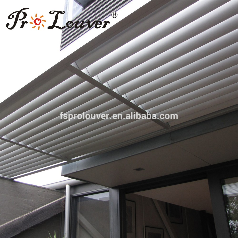 China wholesale merchandise balcony pergola opening roof custom waterproof louver roof