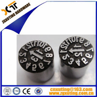 Standard Date code inserts/ date stamps/date marked indicator in Mold