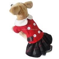 Wholesale Baby Collar Style Spring Autumn Winter Dog Lovers Red Dress