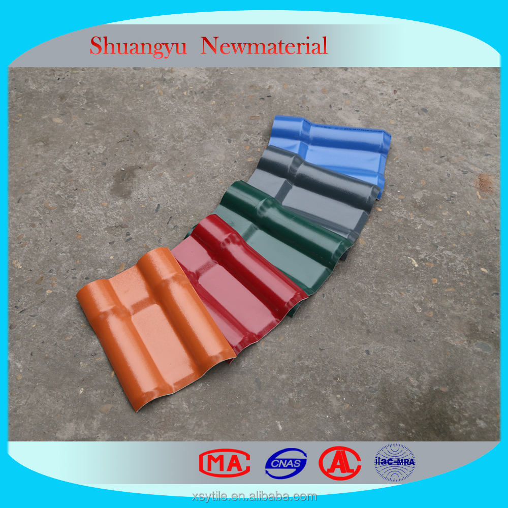 Recycled Plastic Roofing Plastic Flat Sheet Roof/Resin Roof Tile