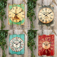 Brand New Retro Vintage Rustic Wall Clock Shabby Chic Home Office Coffeeshop Bar Decor Decoration Best Gift Craft 4 Stylish