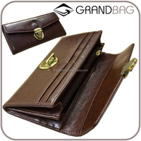 vintage style cow leather cell phone clutch wallet mobile phone case card holder wallet for women
