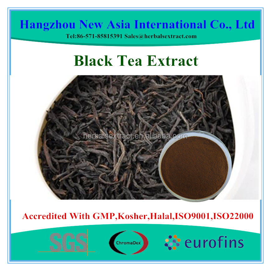 High Quality Black Tea Extract Theaflavin Polyphenols 20%-50%