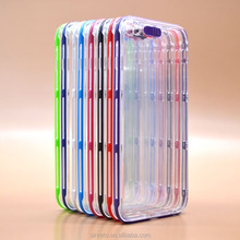 Wholesale Hotselling incoming call LED flash light Case bumper For iPhone 6/6 PLUS