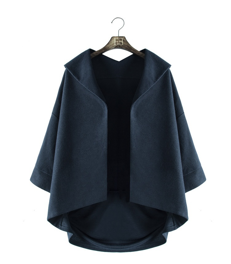 Factory Direct Women Jacket Fashion Irregular Casaco Feminino Autumn and Winter Hot Cape Coat Jacket Free Shipping