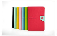 Elegant hybrid color leather case flip belt book style leather case for ipad mini 4