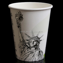 flexo print 12OZ coffee cup costume for drink